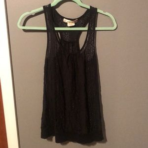 Racer Back Lacey Tank Top